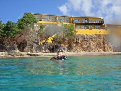 Diving in Westpunt, Curacao