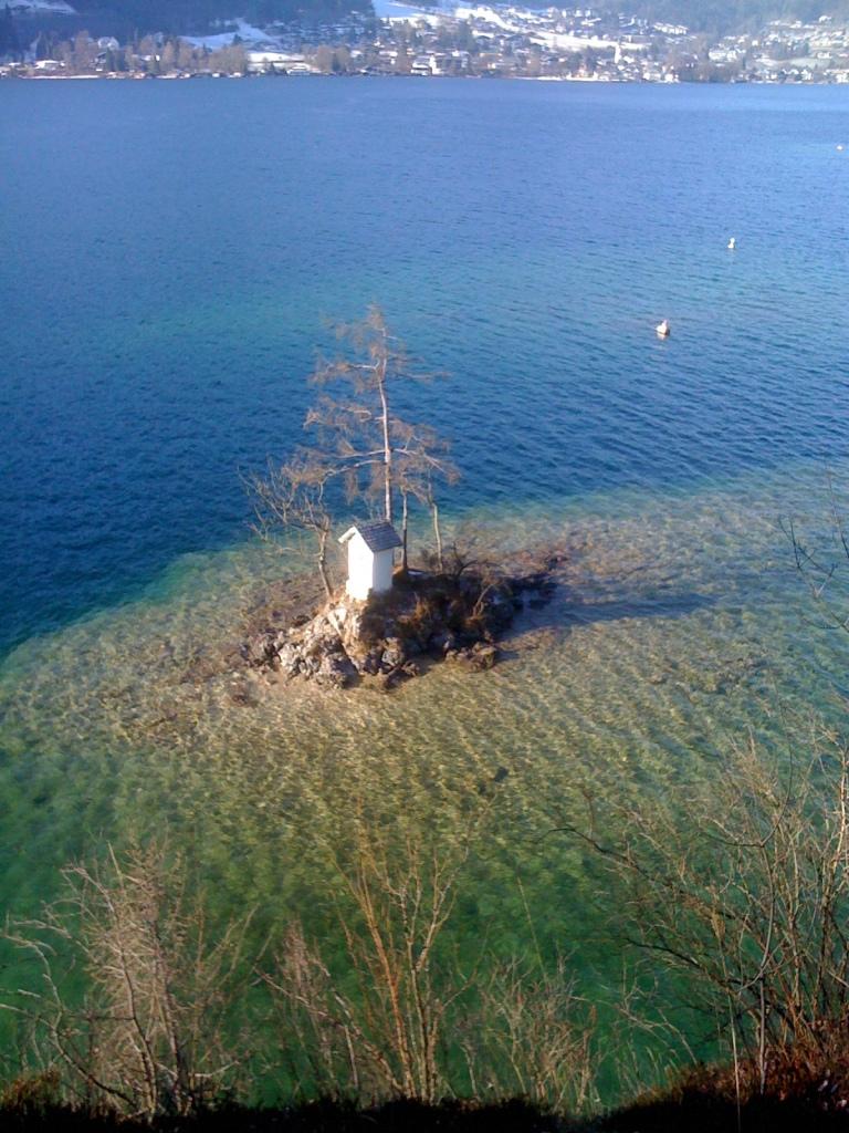 Diving on Wolfgangsee Mountain Lake